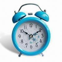 Wholesale Mini Talking Twin Bell Voice Analog Alarm Clock with 2 x AAA Batteries, Made of Metal from china suppliers