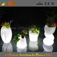 Wholesale Waterproof Indoor / Outdoor LED planter flower pot RGB light Bright Color Garden Furniture from china suppliers