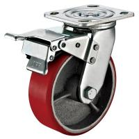 Wholesale Small Red Caster Wheels / Heavy Duty Locking Swivel Casters With Plate Fitting from china suppliers