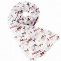 Wholesale Scarf, made of chiffon, lovely candy/butterfly printing, fashionable design from china suppliers