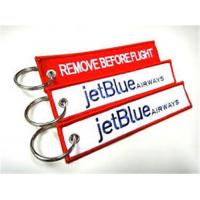 Wholesale JetBlue Airways Remove Before Flight Embroidery Keychain from china suppliers