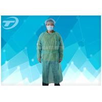 Wholesale Knitted Wrist PP PE Disposable Scrub Suits Isolation Gowns Water Resistant from china suppliers