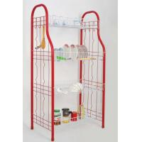 Wholesale Foldable 4 Tier Big Kitchenware Shelf Storage Racks with Cup Hook and Dish Rack from china suppliers