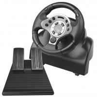 Wholesale video game steering wheel racing wheel with foot pedal for PC PC360 PS2 PS3 from china suppliers