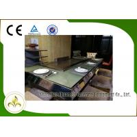 Wholesale 9 Seats Electric Heating Front Air Supply Teppanyaki Table Grill , Indoor Teppanyaki Grill from china suppliers