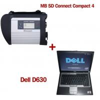 Wholesale MB SD Connect Compact 4 Star Diagnosis 2018.5V Software Version Plus Dell D630 Laptop from china suppliers