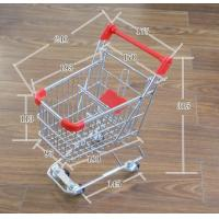 Wholesale Q195 Low carbon steel Retail Shop Equipment Metal grocery shopping cart on wheels from china suppliers