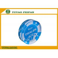 Wholesale Big Blue Texas Holdem Poker Dealer Button Acrylic Transparent Color from china suppliers