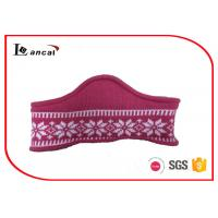 Wholesale Pink Neck Cowl Scarf With 100% Acrylic Lining , Cashmere Snood Scarf from china suppliers
