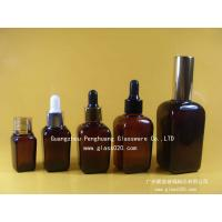 Wholesale Frosty Amber Square Bulk Lavender Glass Essential Oil Bottles With Cap 15ml 25ml 35ml 50ml 100ml from china suppliers