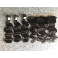 Wholesale Peruvian Grade 8A Virgin Hair Body Wave No Tangle With 13x4 Lace Frontal from china suppliers