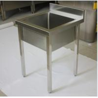 Quality Outdoor Waterproof Square Commercial Stainless Steel Sinks With Drainboard for sale