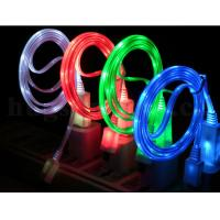 Wholesale Micro USB Flat Light Cable Luminous EL Shining Cable Visible Light Micro USB Cable M37 from china suppliers