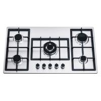 Wholesale 201/304 Stainless Steel 90cm 5 Burner Gas Hob With Cast Iron Pan Support from china suppliers