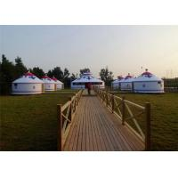 Wholesale Heavy Duty All Season Mongonlian Yurt Tent 4 Layer Double PVC Coating Fabric from china suppliers