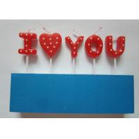 Wholesale Sweet Letter Birthday Candles , White Dots Decorative Valentine'S Day Candles from china suppliers