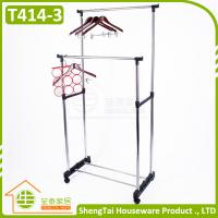 Wholesale Multi Function Stainless Steel Garment Storage Cloth Drying Shelf With Wheels from china suppliers