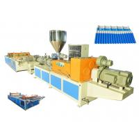 Wholesale Twin Screw Extruder PVC Corrugated Tile Production Line For Plastic Roofing Tile from china suppliers