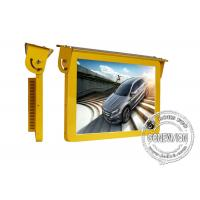 Wholesale 19 Golden Color Bus Digital Signage , 3G Led Bus Advertising Display Screen 12 Or 24 Volt from china suppliers