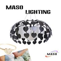 Wholesale MASO Red Color Heart Shape Three Lamp with Glass Cover MS-I6020-3 15w led bulb from china suppliers