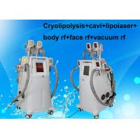 Wholesale Cavi + Lipolaser + Rf + Vacuum Cryolipolysis Slimming Machine For Body / Face from china suppliers