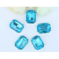 Quality point back rhinestone claw setting sew on chaton Aquamarine 13*18mm for sale
