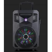 Wholesale 12 Inch Portable Disco Light Bluetooth Trolley Speaker Rechargeable Dj Speakers from china suppliers