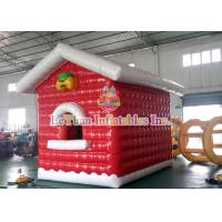 Wholesale Air Closed Movable Inflatable Christmas Tent Colorful Inflatable House fire retardant from china suppliers
