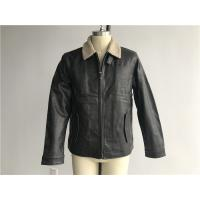 Dockers Men's PVC Leather Jacket Charcoal Color With Sherpa Lining DOCO1714