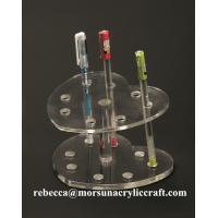 Wholesale Desktop office supplies elegant transparent acrylic pen holder made in China from china suppliers