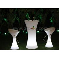 Wholesale Waterproof LED Illuminated Cocktail Table For Events , PE Colorchangeable from china suppliers