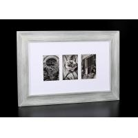 Wholesale :Horizontal 3 – Multi Openings Tabletop Photo Frame In Washed White Colors from china suppliers