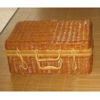 Wholesale Bigger sie Rattan Handmade Holiday Picnic Baskets for Two Person Use Pouplar in Europe Countries from china suppliers