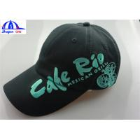 Wholesale 6 Panels Black Mens Baseball Caps / Hats With Embroidery On The Peak And Front Side from china suppliers