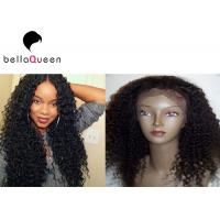 Wholesale Natural Black Long 100% Remy Wavy Curly Wave Human Hair Lace Wigs 6A Grade from china suppliers