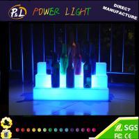 Wholesale Illuminated Event Furniture Color Changing Plastic LED Wine shelf from china suppliers