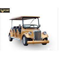 Wholesale Classic Type Electric Club Car Utility Vehicle With Golden Yellow Color , 8 Seat from china suppliers