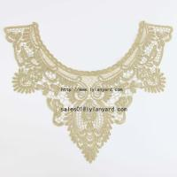 Wholesale Gold Line Embroidery Costume Decor Sewing Applique Craft Collar Lace Trim from china suppliers