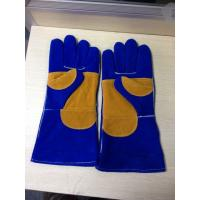 "Quality Cow Leather Safety Working Gloves 16"" / 14"" Heat Resistant With Double Reinforced Palm for sale"