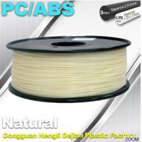 Wholesale Natural Color 1.75mm PC / ABS 3D Printer Filament 1.3kg / Spool from china suppliers