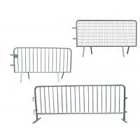 Wholesale 2100mm * 1100mm Anti-surge Crowd Barrier Steel Fence Systems With Bridge / U / Flat Base from china suppliers