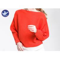 Wholesale Boat Neck  Womens Knit Pullover Sweater Lady Sexy Drop Shoulder Ottoman Knitted Jumper from china suppliers