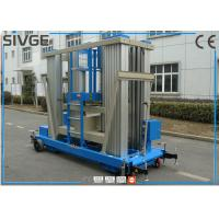 Buy cheap Reliable Blue Hydraulic Aerial Work Platform 22 M Height For Business Decoration from wholesalers