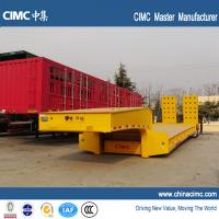 Wholesale 16 wheeler 24 feet lowbed trailer 60 tons with 8.25R15 tires from china suppliers