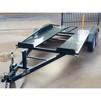 Wholesale Tandem Axle 16x6 Flat Deck Car Trailer / Auto Transport Trailer Lightweight from china suppliers