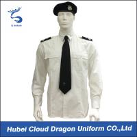 Wholesale White Color Breathable Security Guard Shirts With Two Front Chest Pockets / Pen Slot from china suppliers