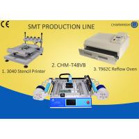Buy cheap 3040 Stencil Printer + Chmt48vb Table Top Pick And Place + T962C Reflow Oven , Smt Line from wholesalers