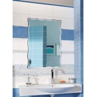 Wholesale Rectangular Illuminated Bathroom Wall Mirrors Framed Irregular Edges from china suppliers