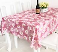 Quality Rectangular PVC Table Cloths Cover for sale