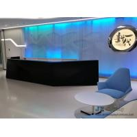 Quality Commerical Office buliding Geometric Round Reception counters made by China factory with Storage drawer and Stone table for sale